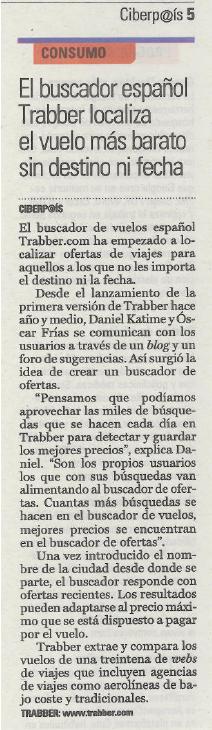 Trabber en El País