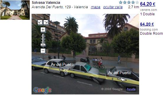 Google Street View en Trabber.com