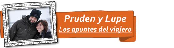 Pruden y Lupe, del blog de viajes Los apuntes del viajero.