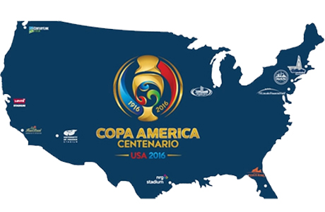 mapa Copa América