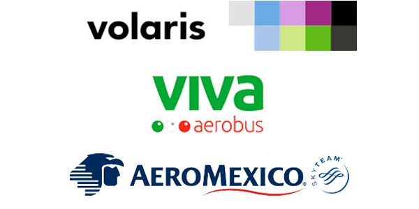 top 3 aerolíneas rutas méxico