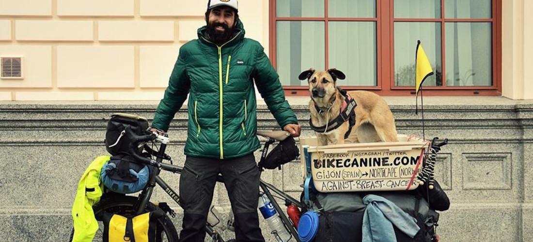 pablo y hippie viajar con perro