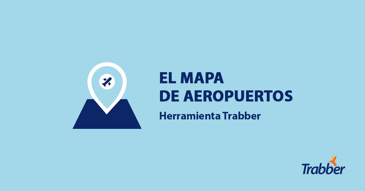 Mapa de aeropuertos de Trabber