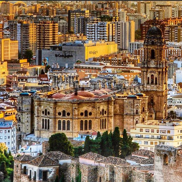 Vista de Malaga desde el mirador de Gibralfaro
