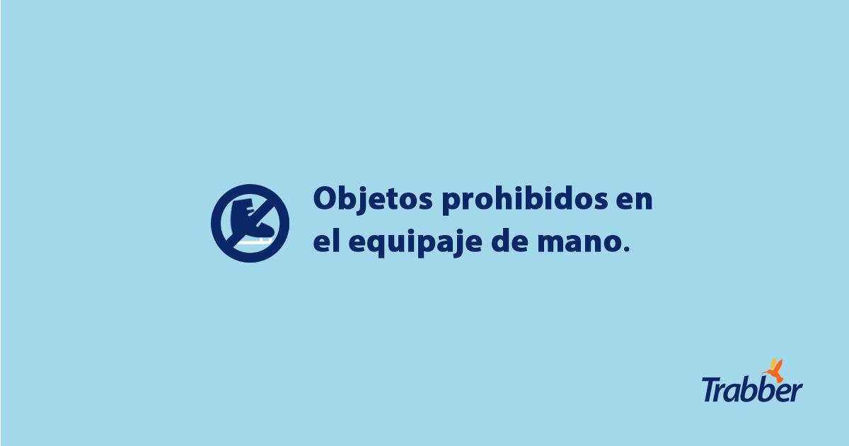 objetos prohibidos avion