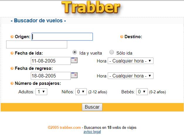 primera web de Trabber
