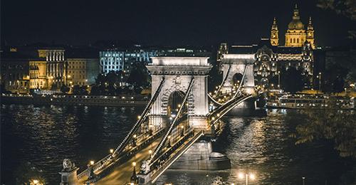 guía de budapest - puente de las cadenas