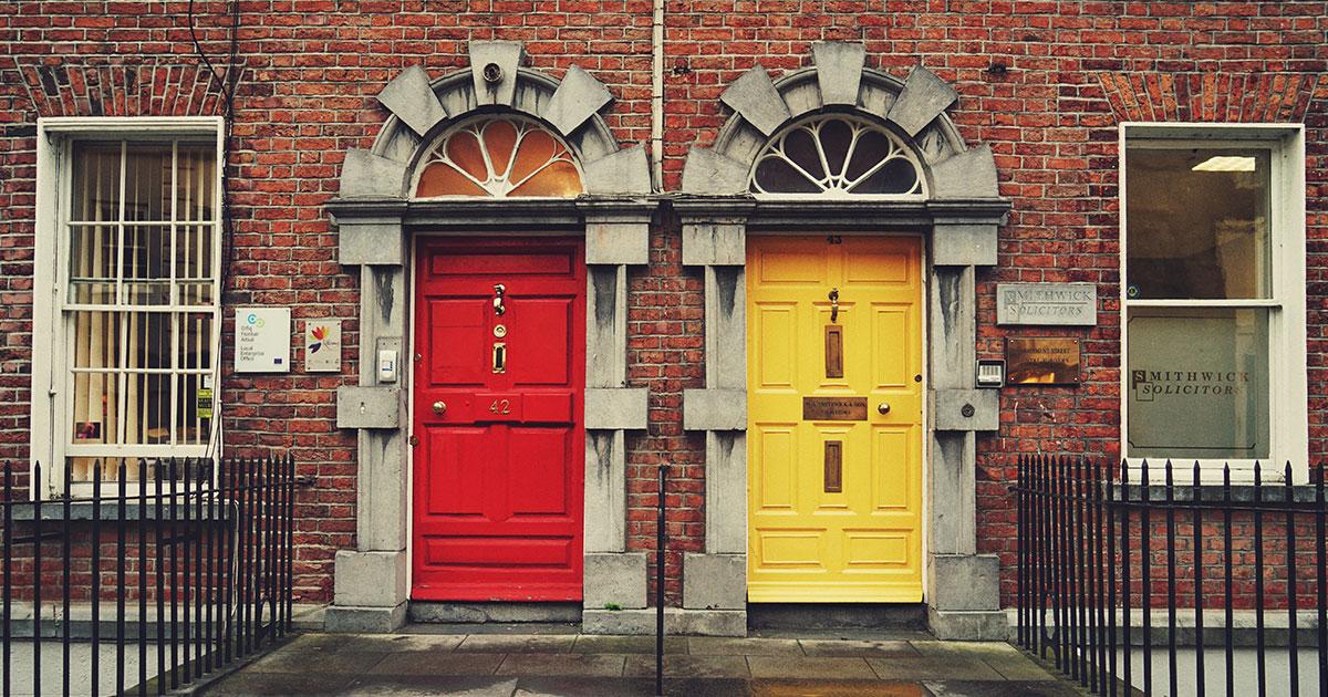 Puertas de colores, Dublín.
