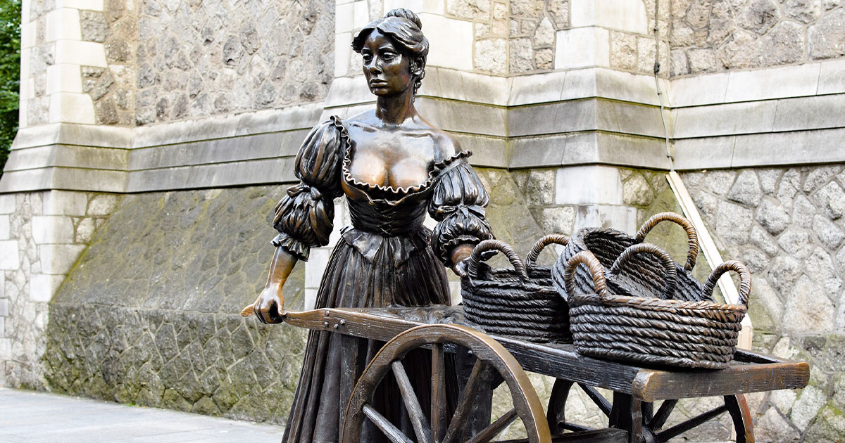 Estatua Molly Malone, Dublín.