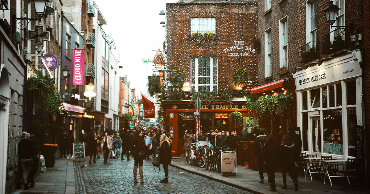 Temple Bar, Dublín.