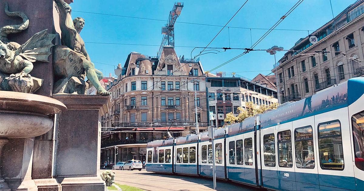 Vista Zurich en tu escala stopover.