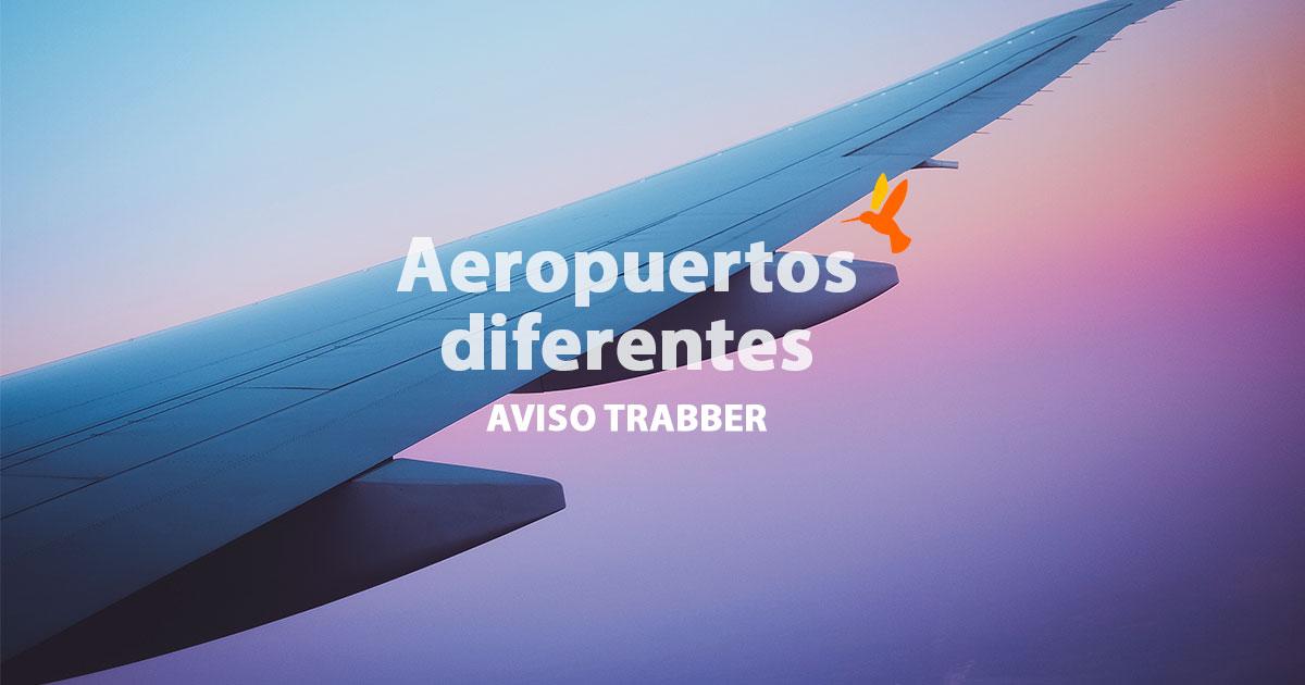 Aeropuertos diferentes