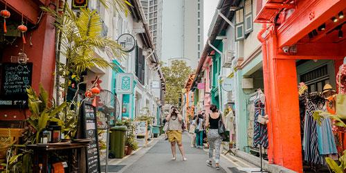 la calle más estrecha de singapur