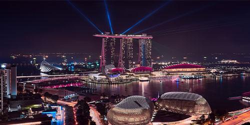 Espectáculo luces Marina Bay