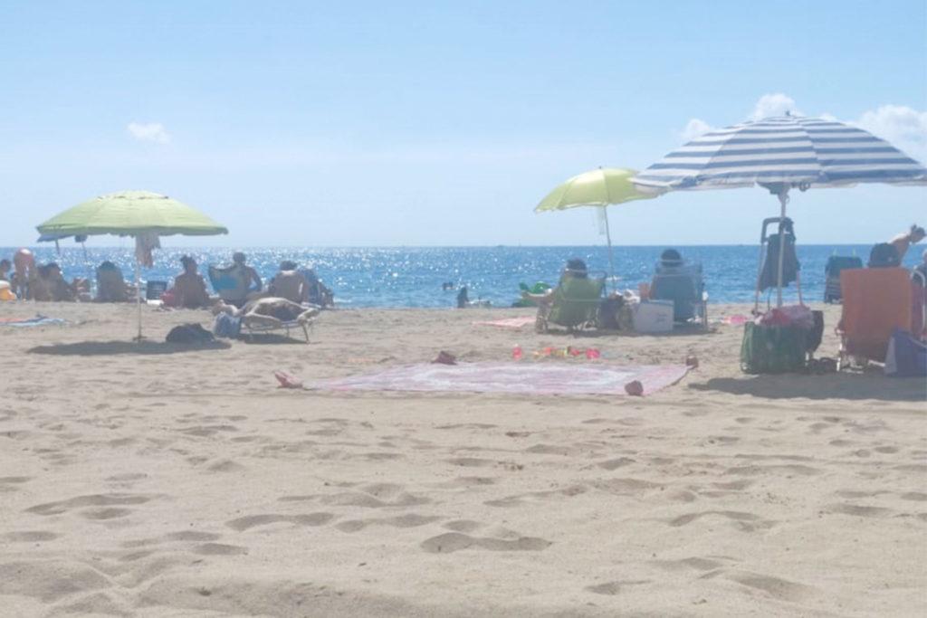 En Cambrils encontré playas con bastante más gente que las de Fuerteventura.
